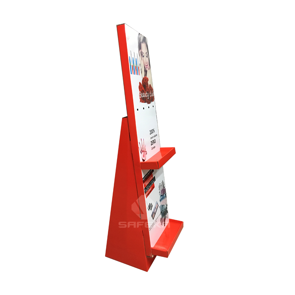 Innovative Corrugated Cardboard Display Stand for Mascara and Makeup SF1156
