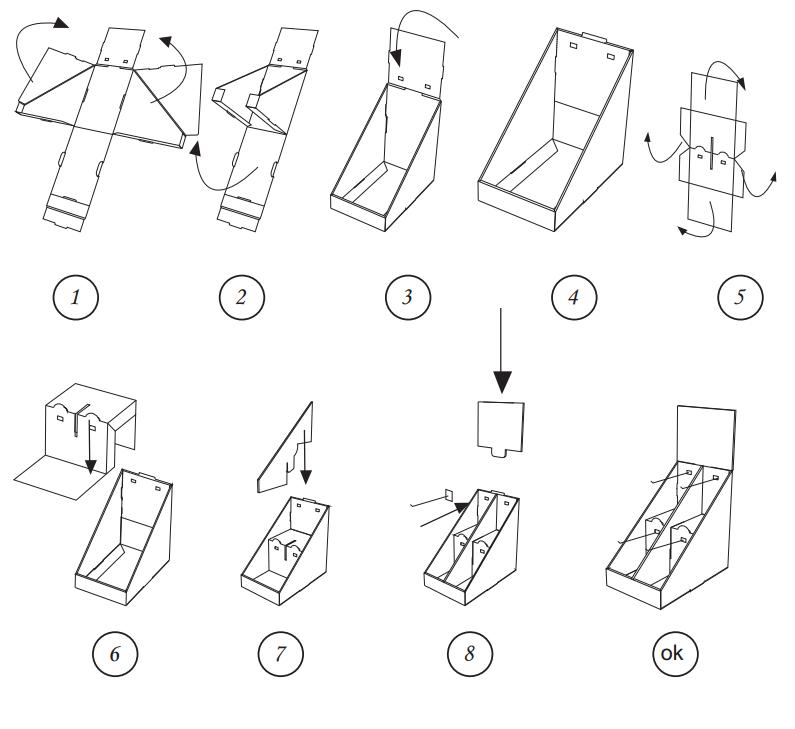 SAFEKA -Corrugated Cardboard Hook Display Stand Retail Display Counter-4