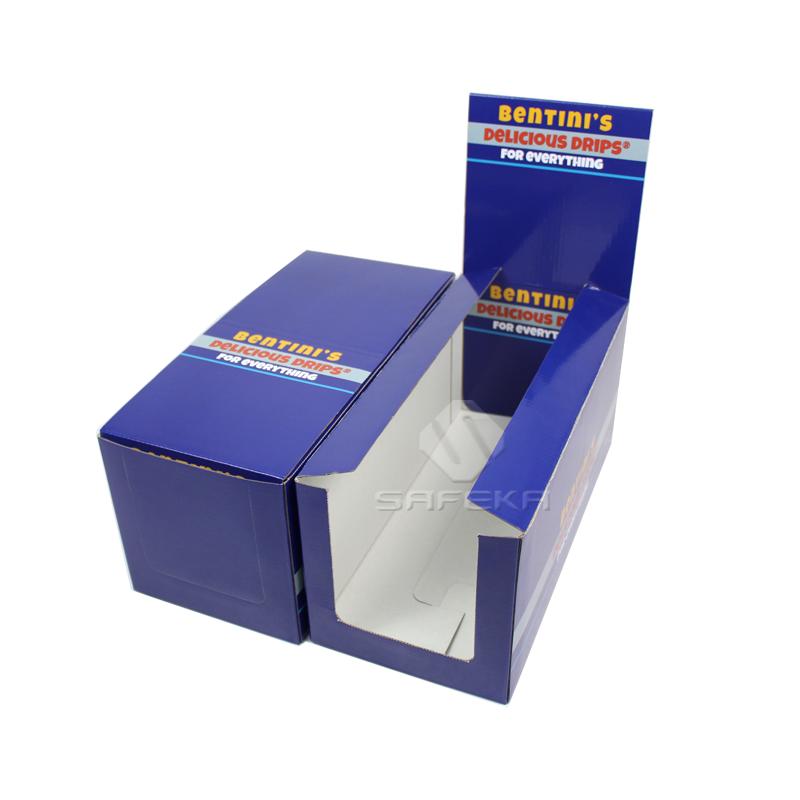 Supermarket display cardboard boxes for snack promotion SC1901