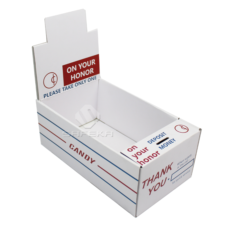 Cardboard charity donation display boxes for Coins SC1902