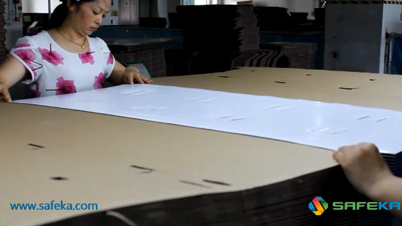 The manufacturing of a point of purchase display.