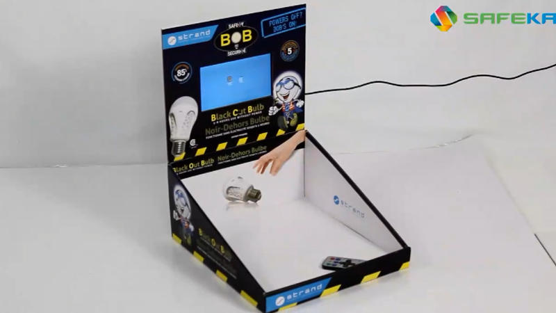 Counter Display Stand Table Stand with LCD for Light bulb
