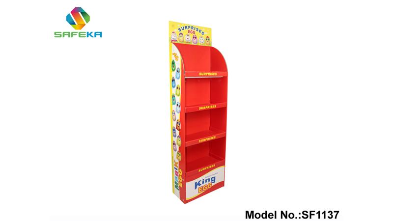 Magic Eggs Corrugated Display shelf-Cardboard Displays- Retail Displays- Custom Cardboard Cutouts-SAFEKA