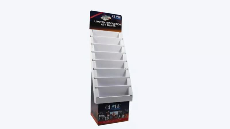Corrugated Greeting Cards floor display racks
