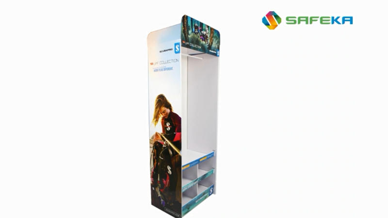 Portable Diving Suit Cardboard Display Stand Template