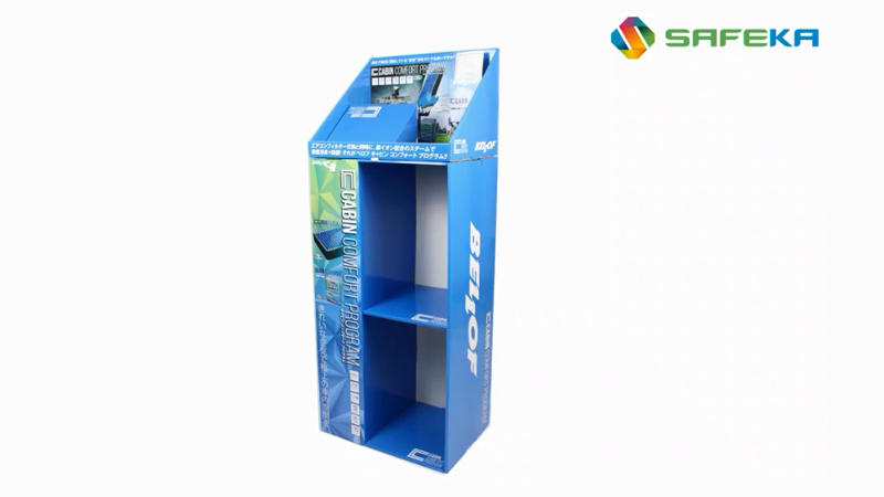 POP Car Air Filter Product Floor Display Cardboard