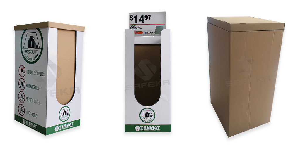 SAFEKA -Free Stand Point Of Sale Cardboard Dump Bin Customized Display Bins