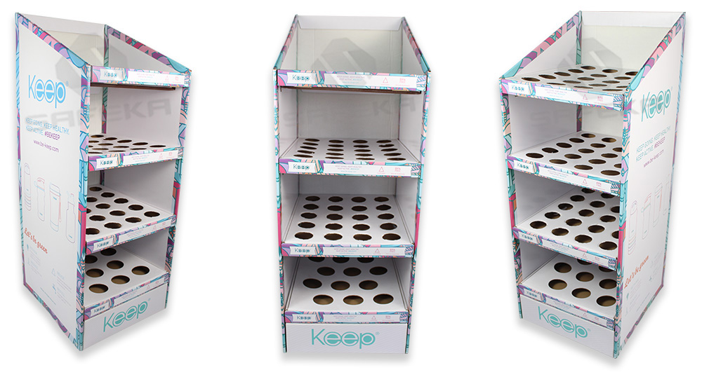 SAFEKA -Hot-sale Supermarkets Custom Promotional Cardboard Floor Display