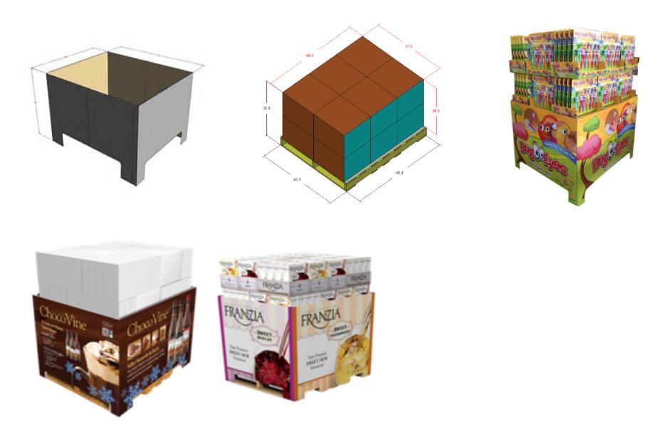 SAFEKA -Best Cardboard Counter Display Cardboard Pallet Retail Display