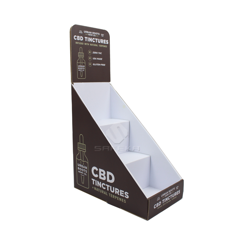 3 Tier Custom Cardboard Counter Displays for CBD Products SC1908
