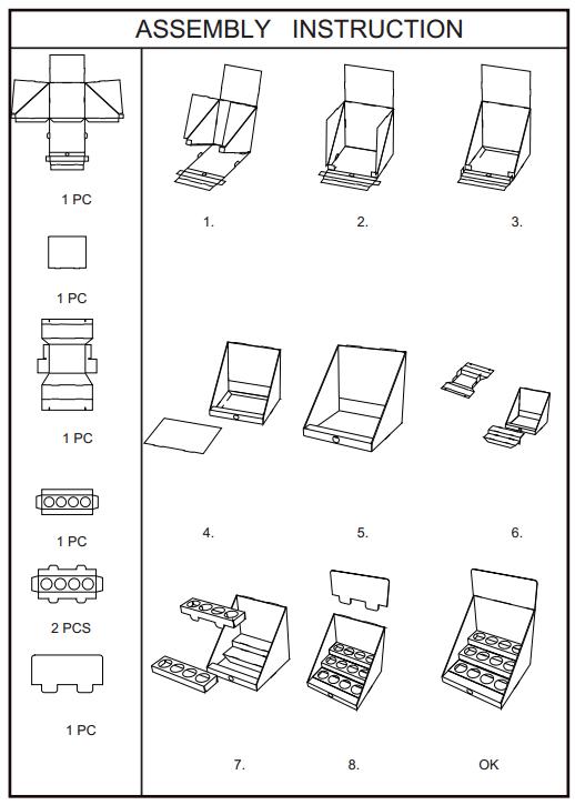 SAFEKA -Bulk Table Top Display Manufacturer, Cardboard Counter Displays   Safeka-9
