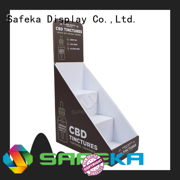 SAFEKA plastic table top display stand free sample for wholesale