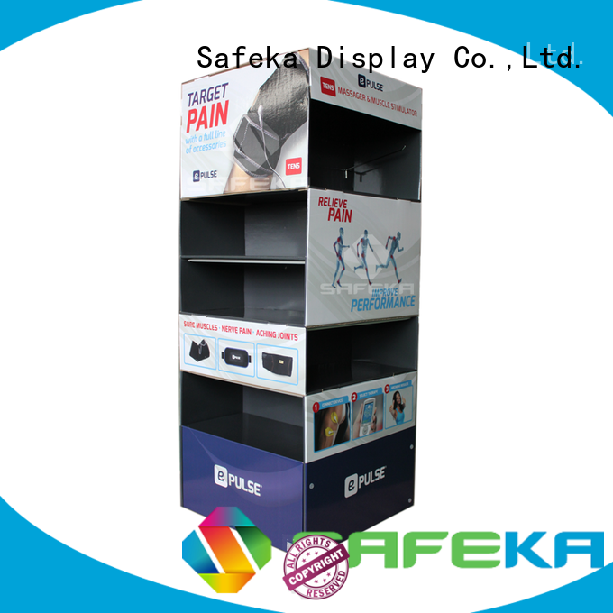 SAFEKA multi-functional cardboard pallet display stands free delivery for supermarket