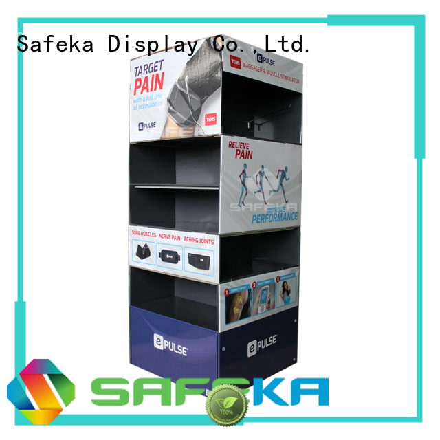 Quality SAFEKA Brand cardboard pallet displays stacker toys