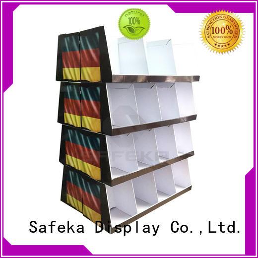 SAFEKA peg cardboard counter display promotional at discount