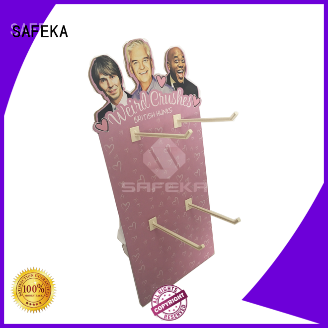 pegs poster cardboard cutout standees display SAFEKA Brand