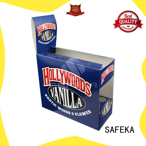 cardboard counter display boxes counter advertising lights SAFEKA Brand retail counter