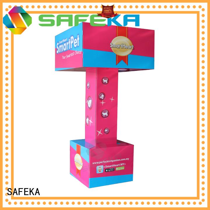 SAFEKA Brand carton shelf diving custom cardboard floor displays