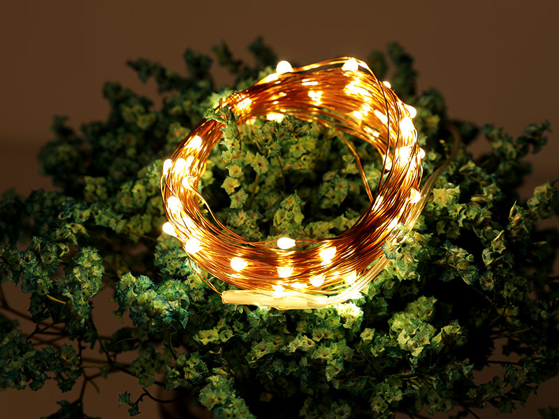Led Strings Copper Wire 3XAA Battery Operated Christmas Wedding Party Decoration LED String Fairy Li